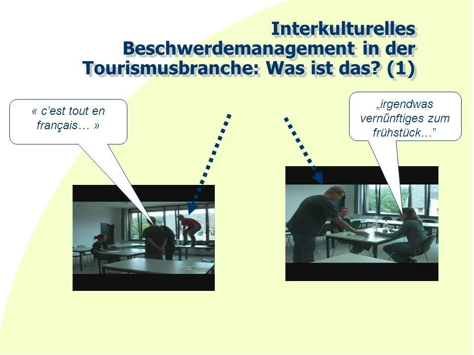 Interkulturelles Beschwerdemanagement in der Tourismusbranche: Was ist das (1)