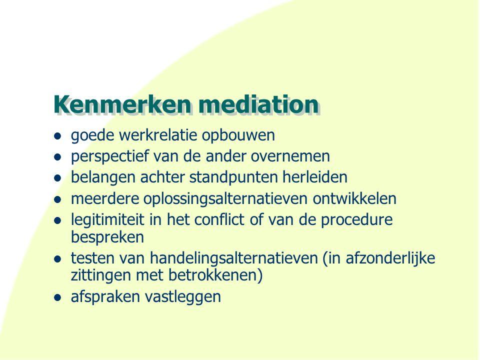 Kenmerken mediation goede werkrelatie opbouwen
