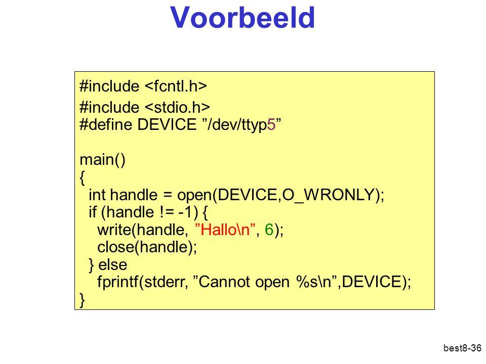 Voorbeeld #include <fcntl.h> #include <stdio.h>