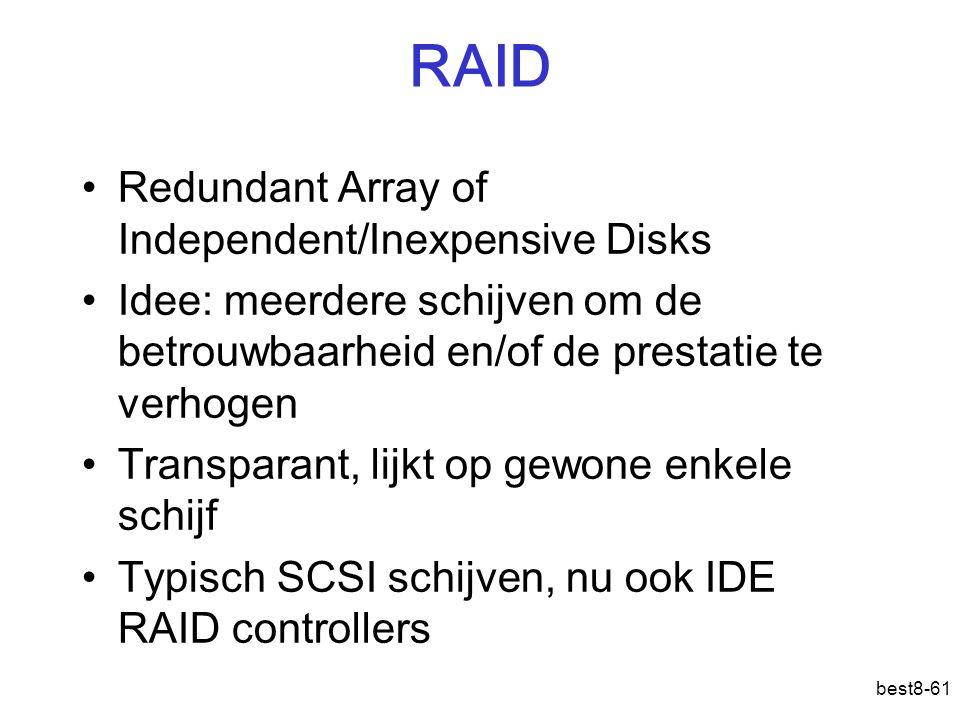 RAID Redundant Array of Independent/Inexpensive Disks