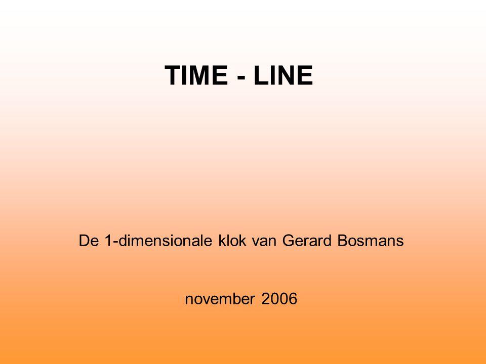 De 1-dimensionale klok van Gerard Bosmans