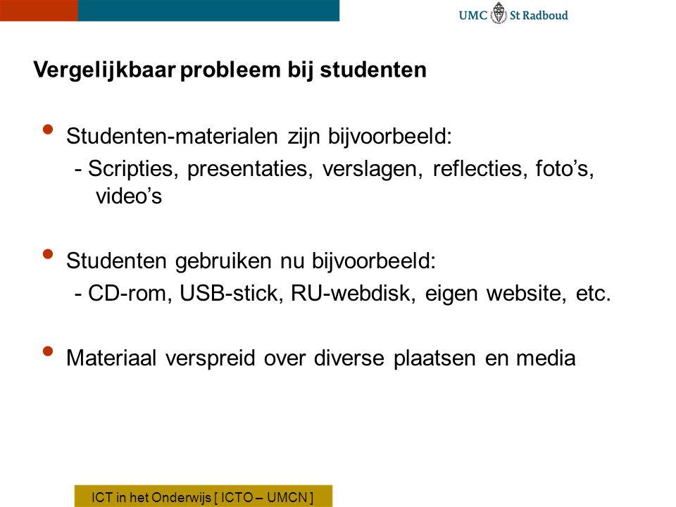 Vergelijkbaar probleem bij studenten