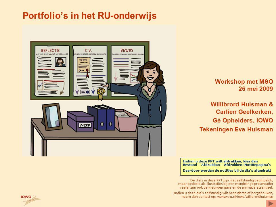 Portfolio's in het RU-onderwijs