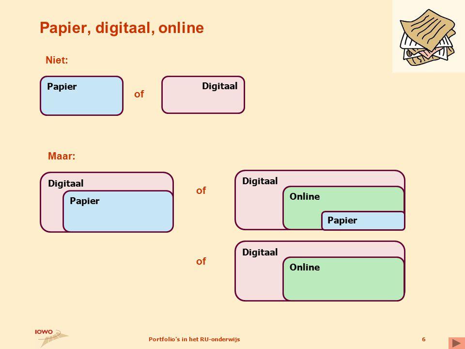 Papier, digitaal, online