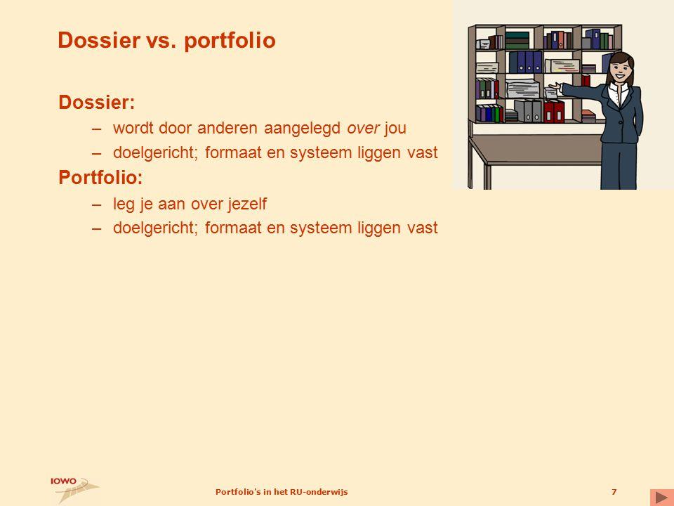 Portfolio s in het RU-onderwijs