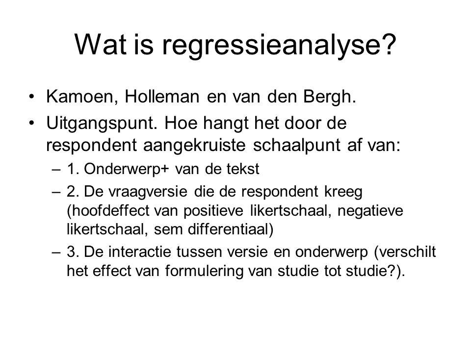Wat is regressieanalyse
