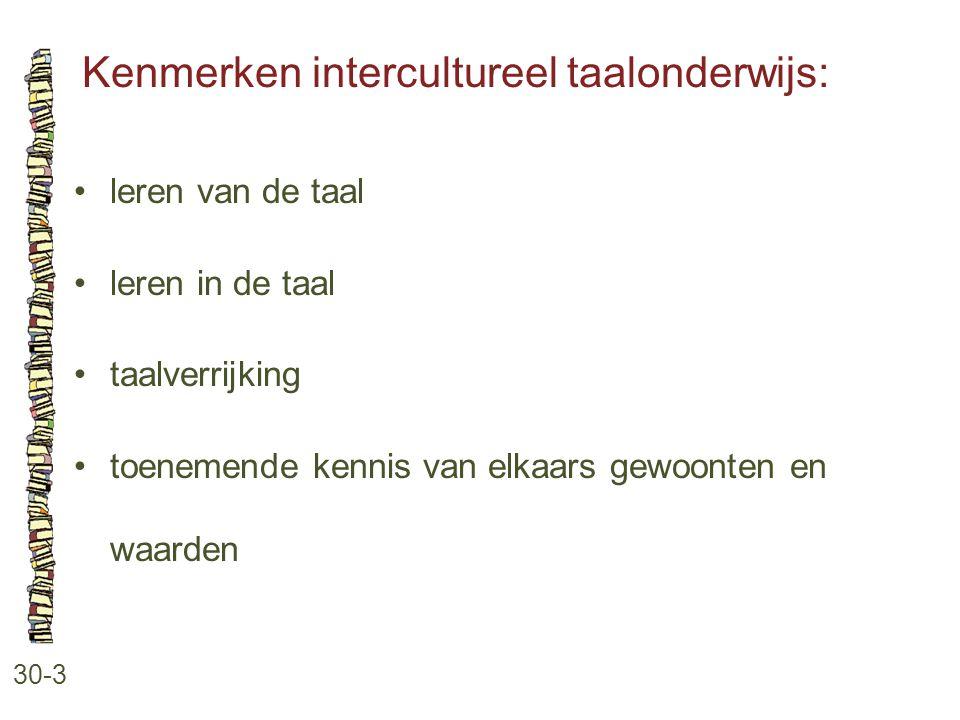 Kenmerken intercultureel taalonderwijs: