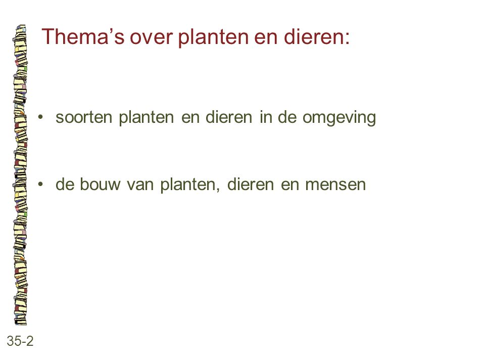 Thema's over planten en dieren: