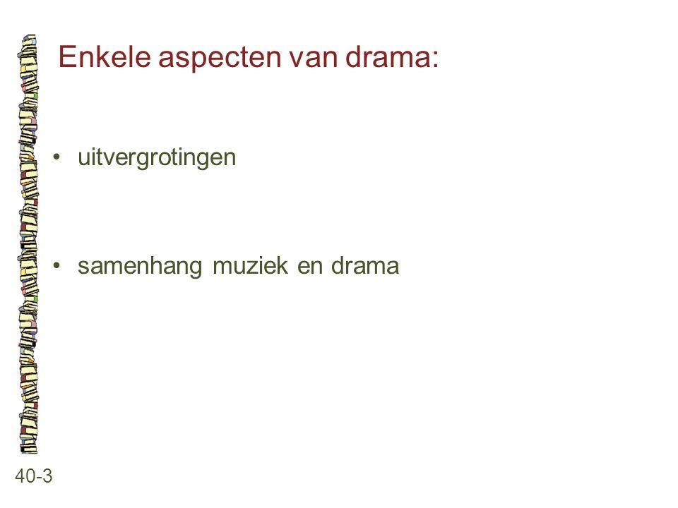 Enkele aspecten van drama: