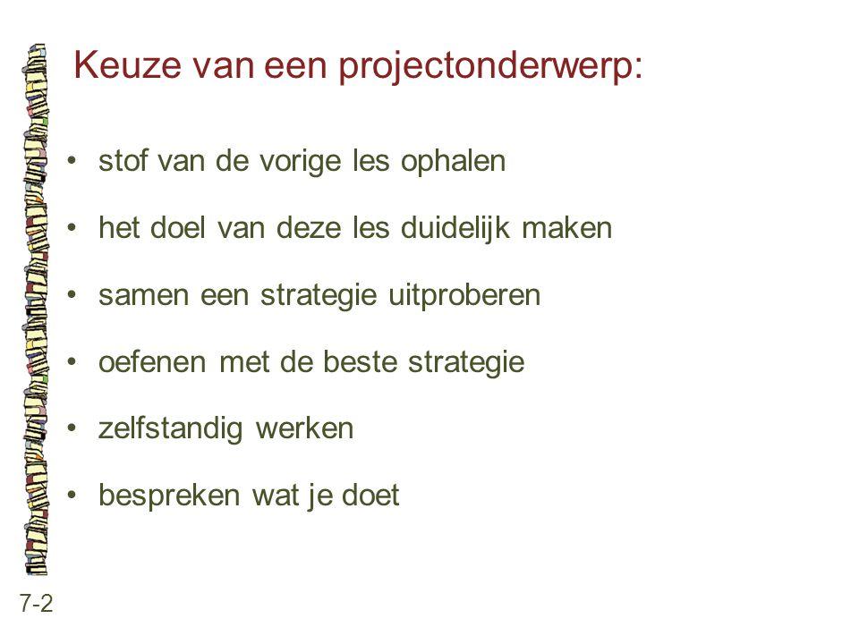 Keuze van een projectonderwerp: