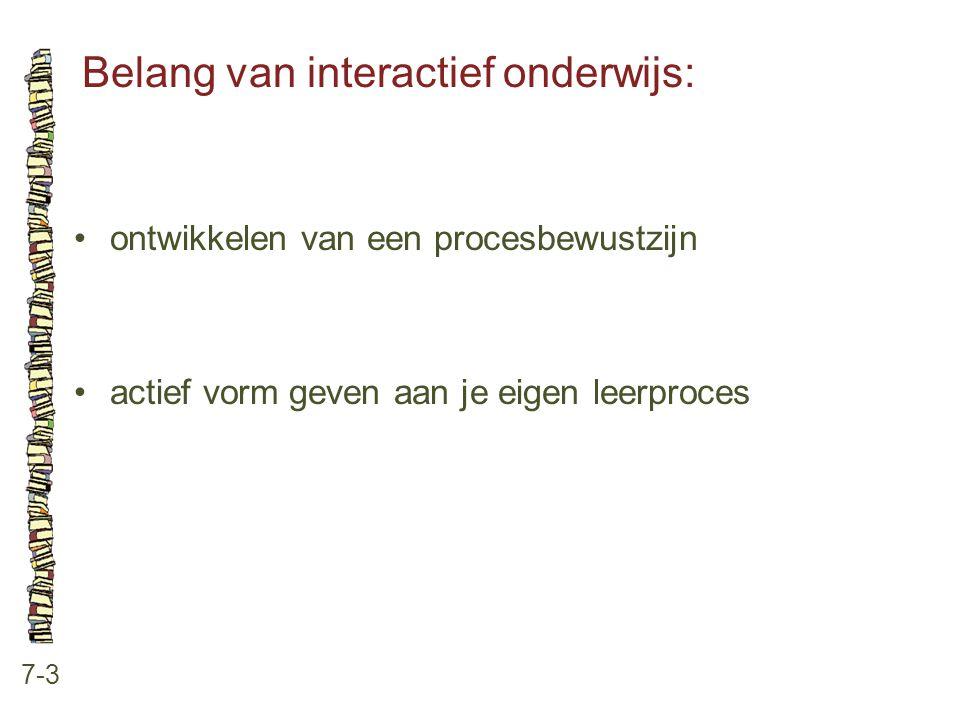 Belang van interactief onderwijs: