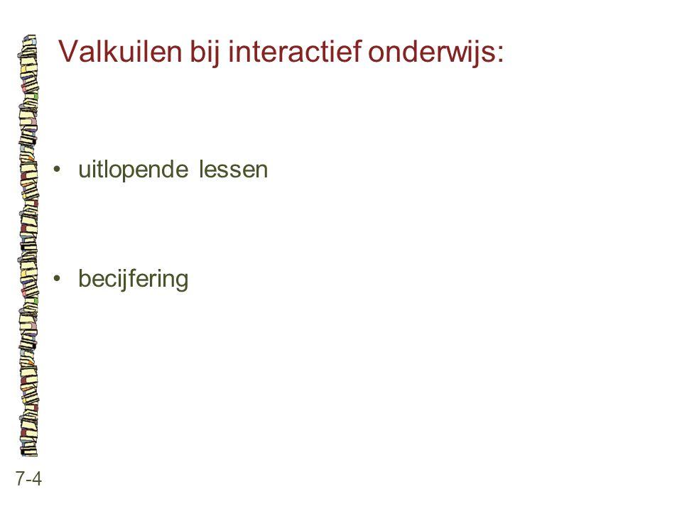 Valkuilen bij interactief onderwijs: