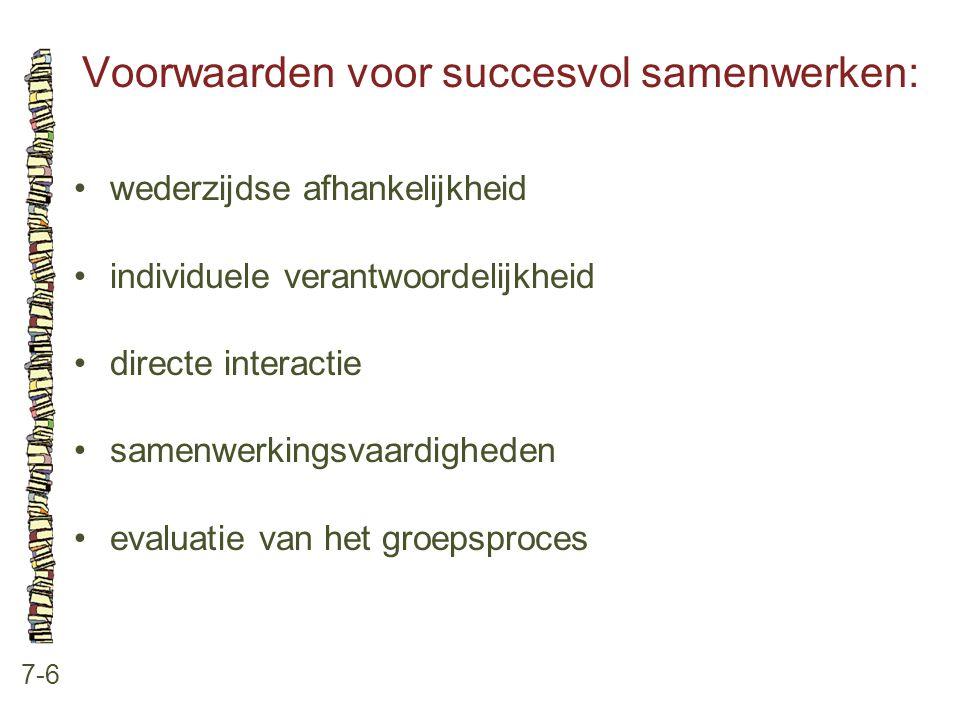 Voorwaarden voor succesvol samenwerken: