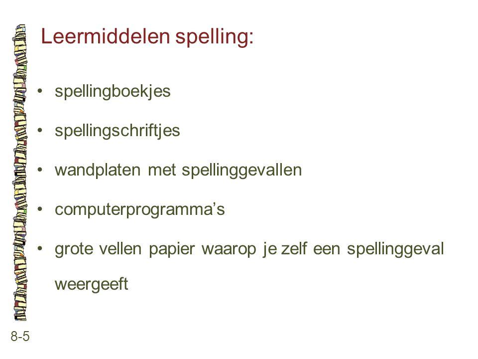 Leermiddelen spelling: