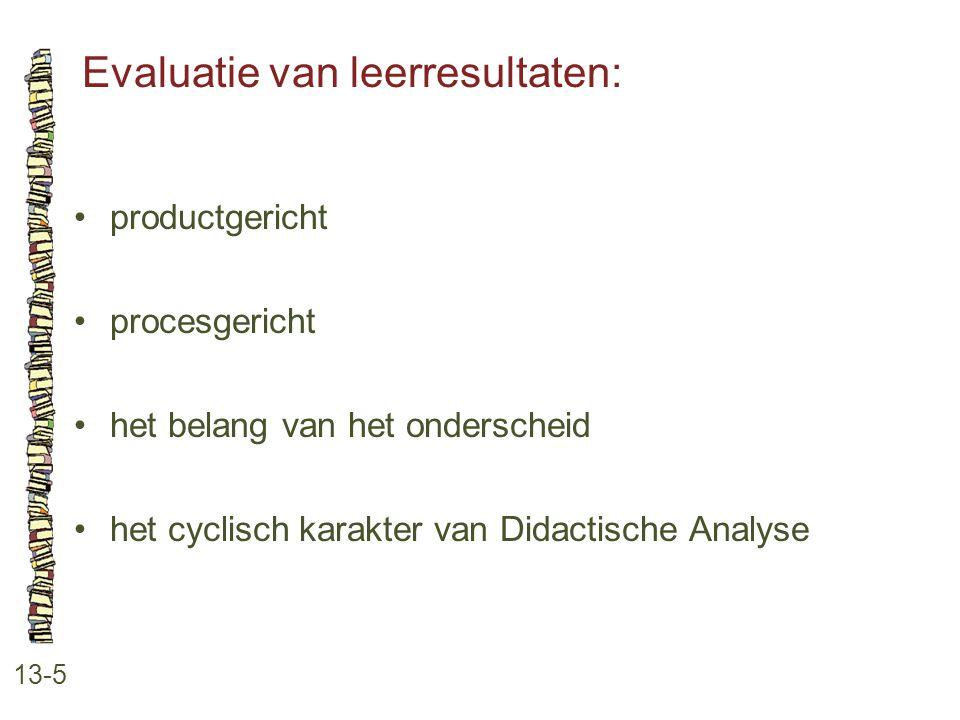 Evaluatie van leerresultaten: