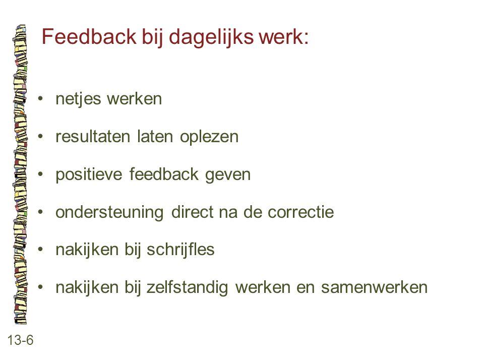 Feedback bij dagelijks werk: