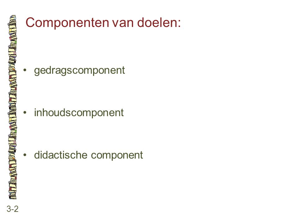 Componenten van doelen: