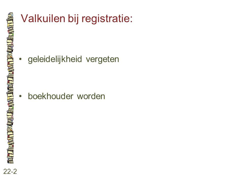 Valkuilen bij registratie: