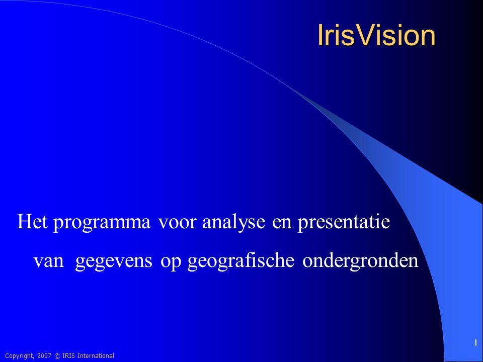 IrisVision Het programma voor analyse en presentatie