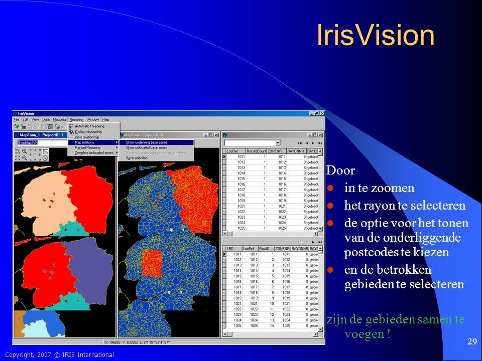 IrisVision Door in te zoomen het rayon te selecteren