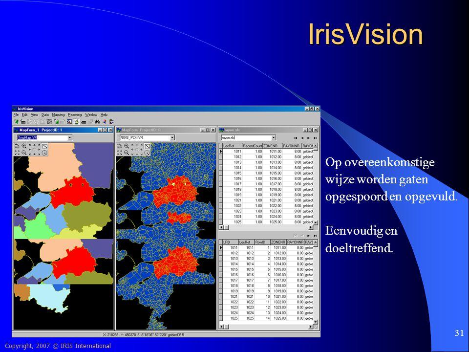 IrisVision Op overeenkomstige wijze worden gaten