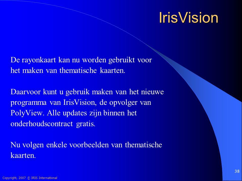 IrisVision De rayonkaart kan nu worden gebruikt voor
