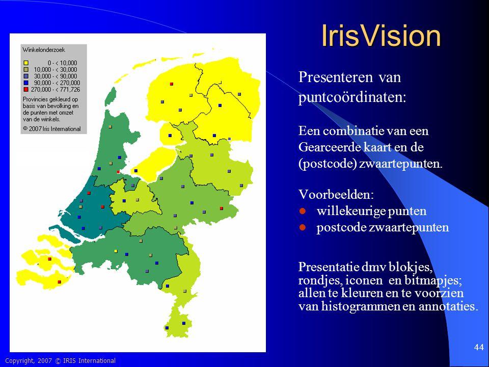 IrisVision Presenteren van puntcoördinaten: Een combinatie van een
