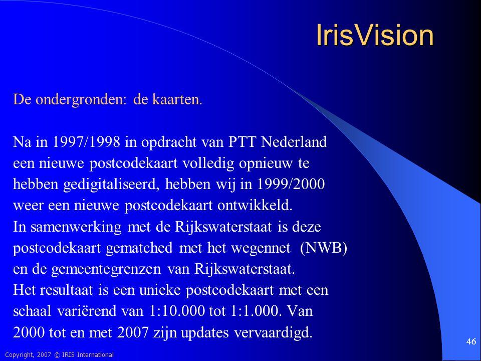 IrisVision De ondergronden: de kaarten.