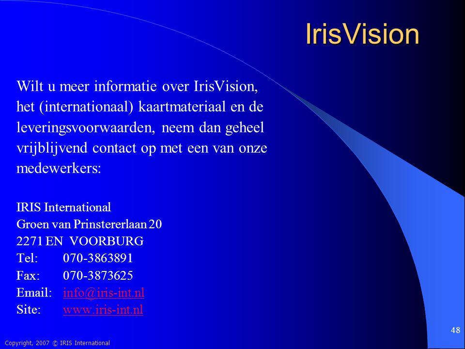 IrisVision Wilt u meer informatie over IrisVision,