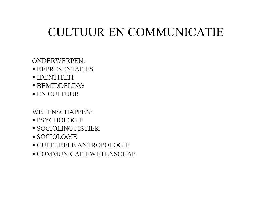 CULTUUR EN COMMUNICATIE