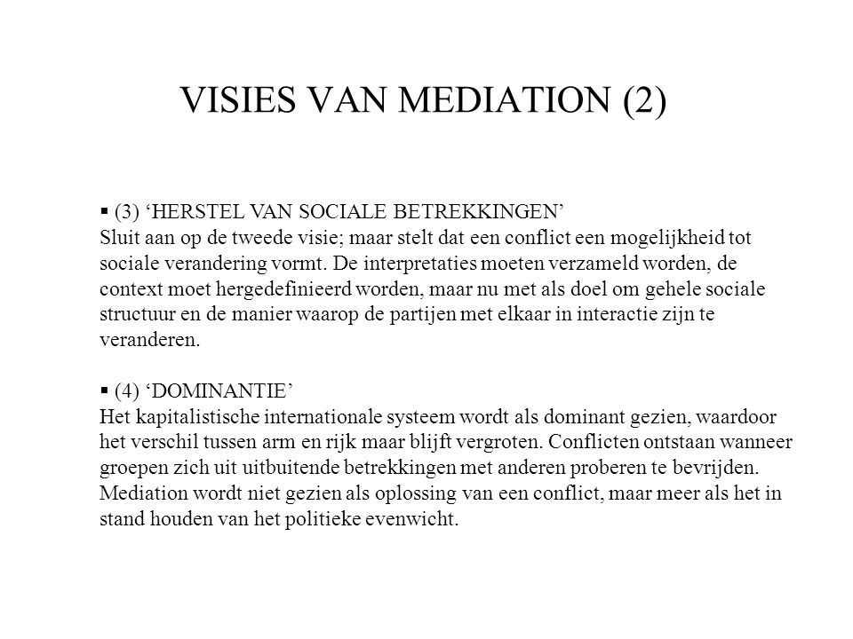 VISIES VAN MEDIATION (2)