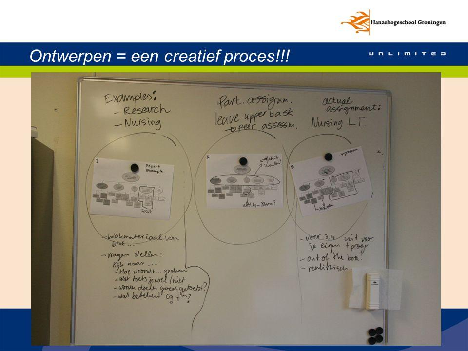 Ontwerpen = een creatief proces!!!