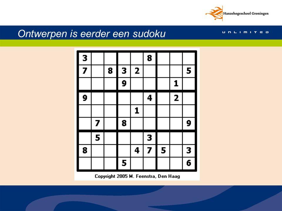 Ontwerpen is eerder een sudoku