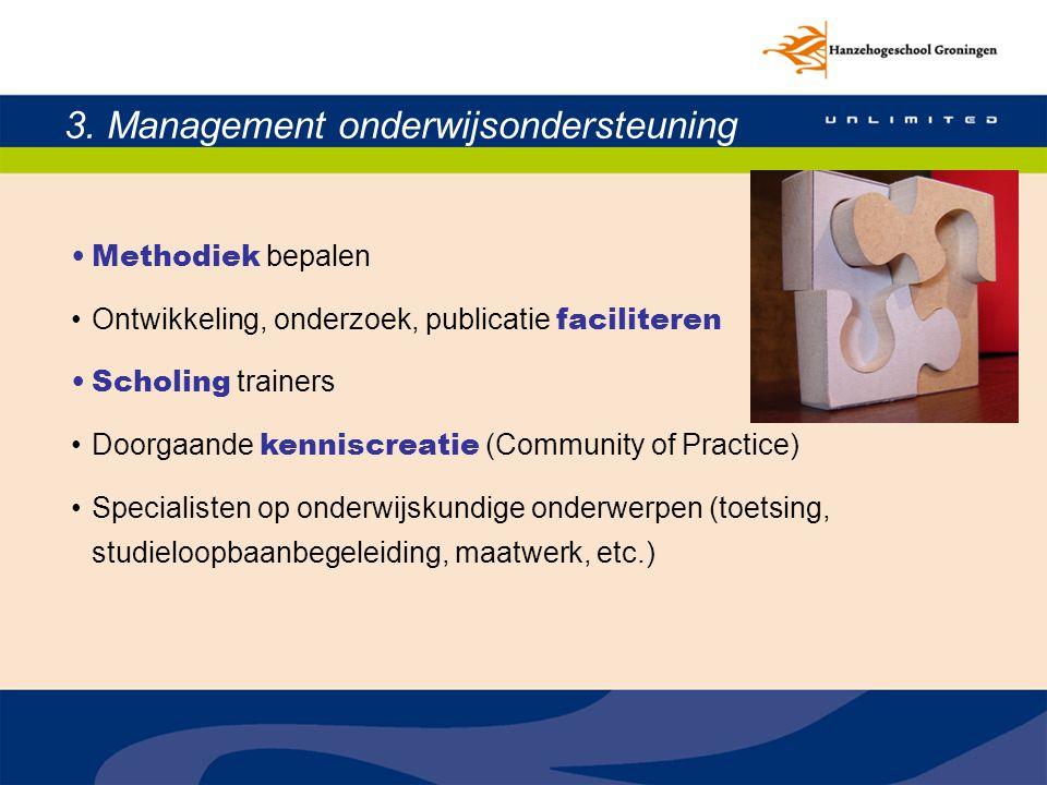 3. Management onderwijsondersteuning