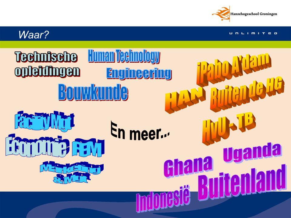 Human Technology Technische opleidingen iPabo A dam Engineering