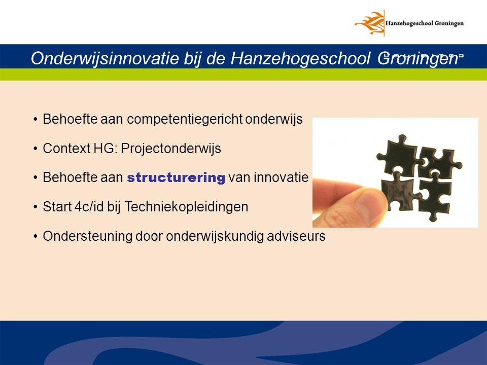 Onderwijsinnovatie bij de Hanzehogeschool Groningen
