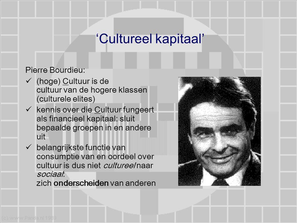 'Cultureel kapitaal' Pierre Bourdieu: