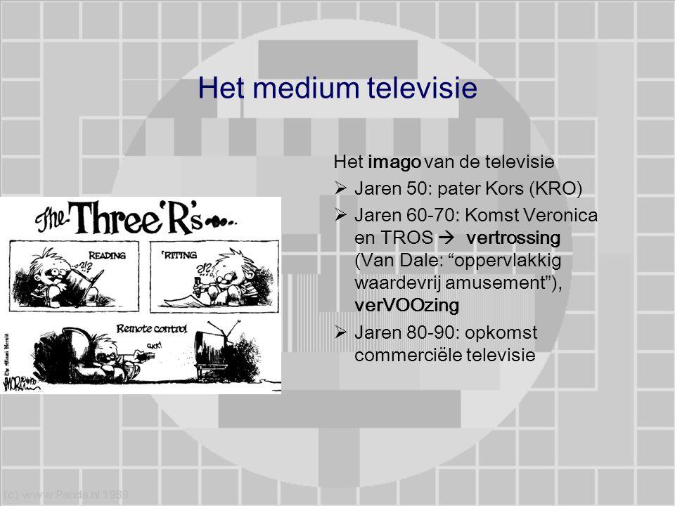 Het medium televisie Het imago van de televisie