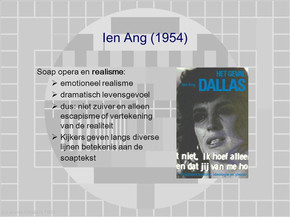 Ien Ang (1954) Soap opera en realisme: emotioneel realisme