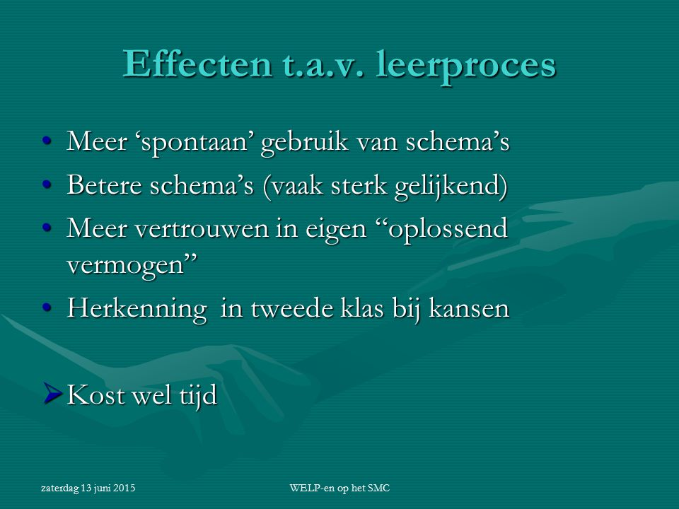 Effecten t.a.v. leerproces