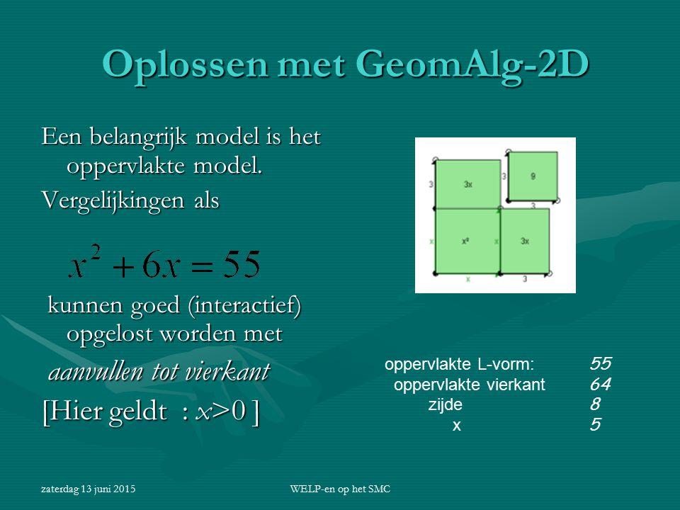 Oplossen met GeomAlg-2D