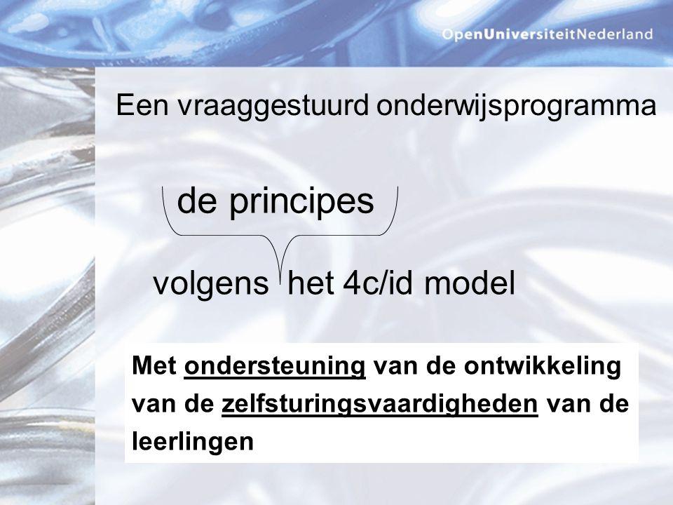 de principes volgens het 4c/id model