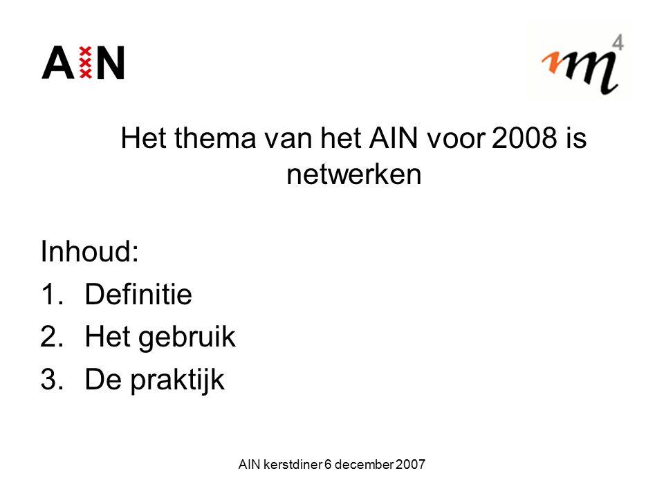 Het thema van het AIN voor 2008 is netwerken