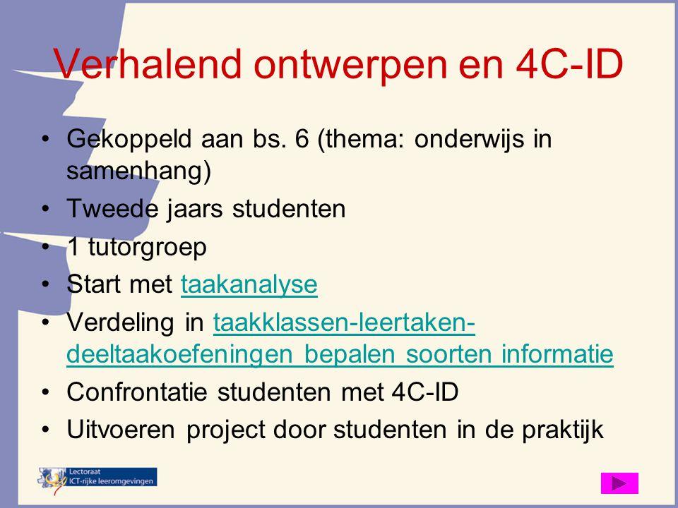 Verhalend ontwerpen en 4C-ID