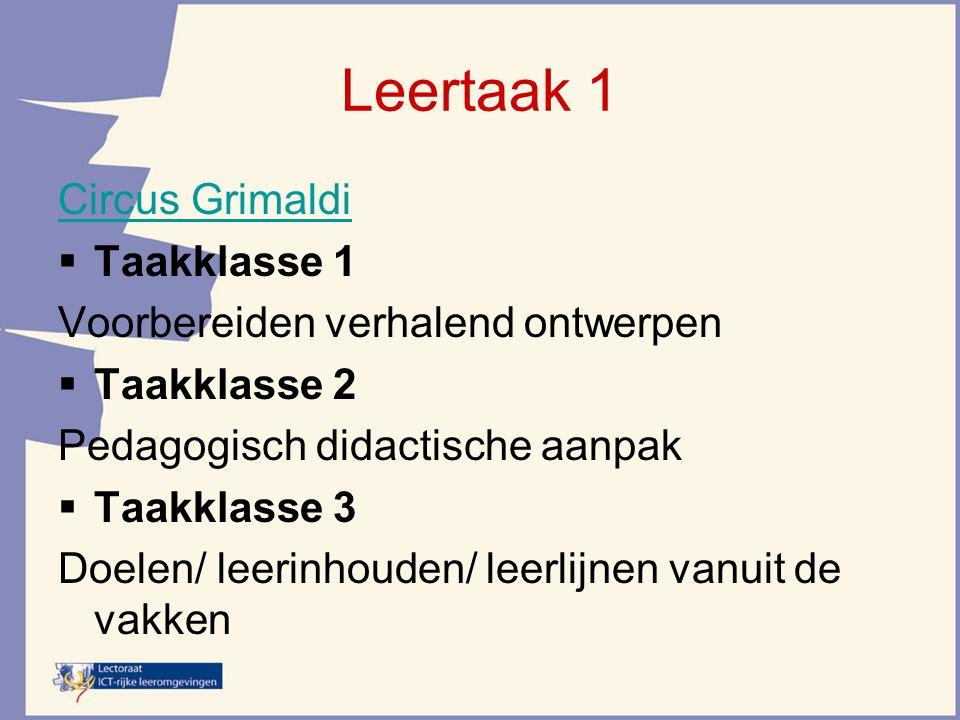 Leertaak 1 Circus Grimaldi Taakklasse 1