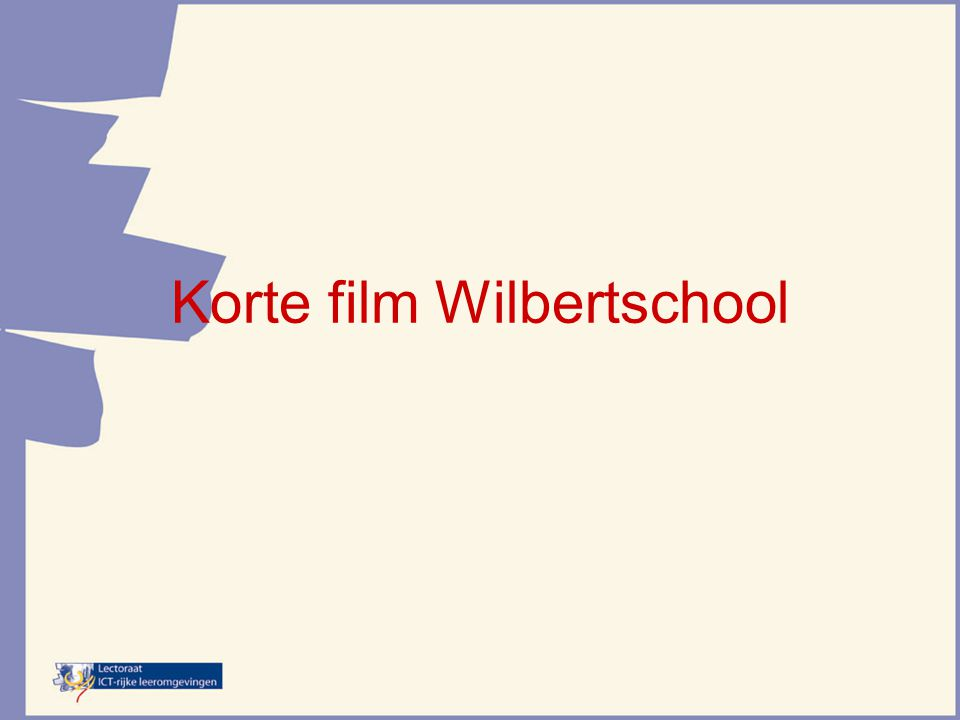 Korte film Wilbertschool