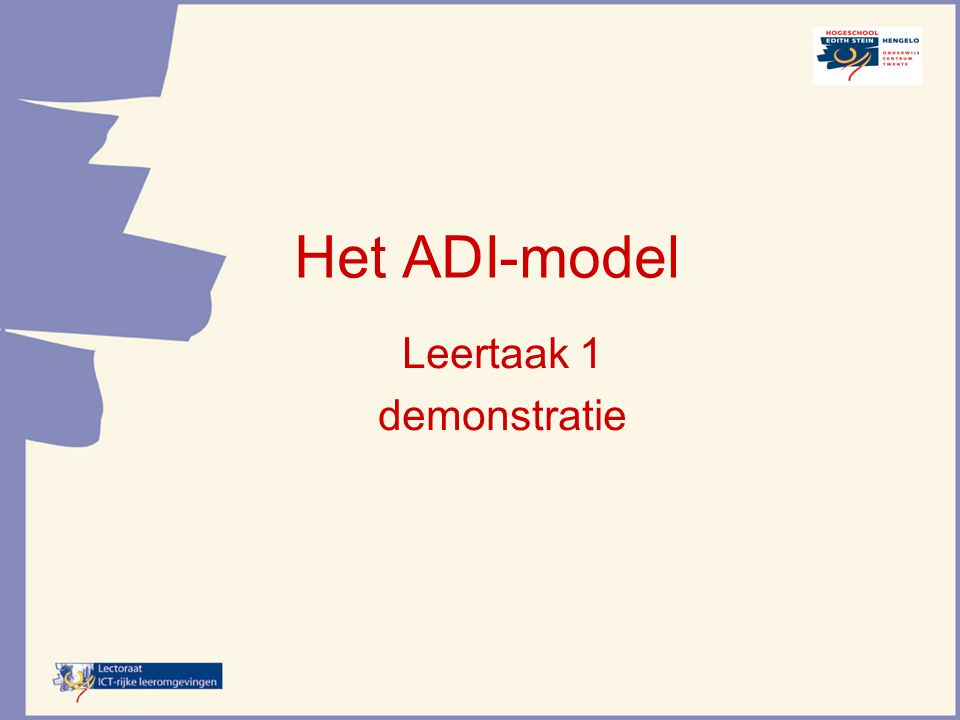 Leertaak 1 demonstratie