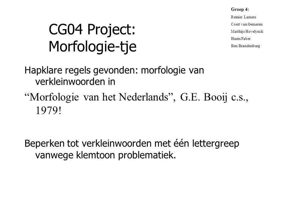 CG04 Project: Morfologie-tje