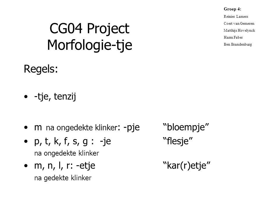 CG04 Project Morfologie-tje