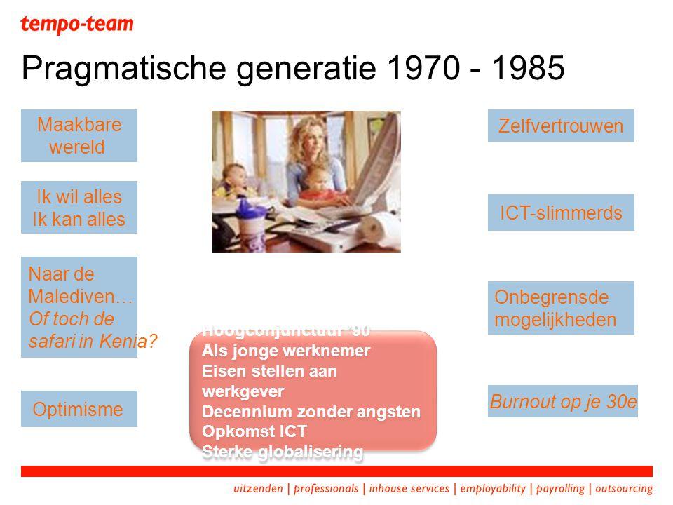 Pragmatische generatie 1970 - 1985